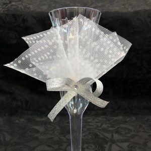 White Glitter  Mis XV Anos Cups 14 plastic 2 glass